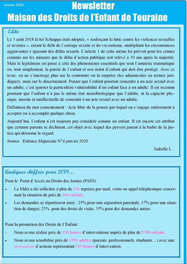 La newsletter de la Maison des Droits de l'Enfant de Touraine
